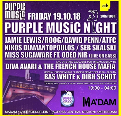 flyer Purple Music Night